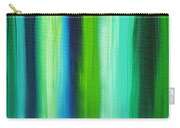 Abstract Art Original Textured Soothing Painting Sea Of Whimsy Stripes I By Madart Carry-all Pouch by Megan Duncanson