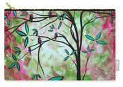 Abstract Art Original Whimsical Magical Bird Painting Through The Looking Glass  Carry-all Pouch
