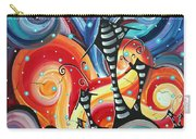 Abstract Art Whimsical Cityscape Funky Houses Homeland By Madart Carry-all Pouch by Megan Duncanson