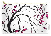 Abstract Artwork Modern Original Landscape Pink Blossom Tree Art Pink Foliage By Madart Carry-all Pouch by Megan Duncanson