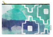 Abstract Aztec- Contemporary Abstract Painting Carry-all Pouch