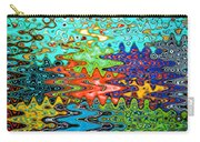 Abstract Background With Bright Colored Waves 1 Carry-all Pouch
