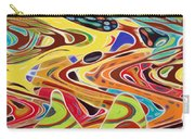 Abstract Background With Bright Colored Waves 17 Carry-all Pouch
