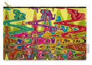 Abstract Background With Bright Colored Waves 5 Carry-all Pouch