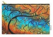 Abstract Bird Painting Original Art Madart Tree House Carry-all Pouch