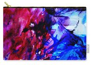 Abstract Blue And Pink Festival Carry-all Pouch by Andrea Anderegg