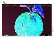 Abstract Blue And Teal Apple On Black Carry-all Pouch
