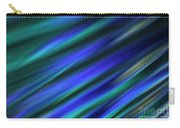 Abstract Blue Green Diagonal Blur Carry-all Pouch
