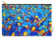 Abstract Blue Poppies In Sunrise -original Oil Painting Carry-all Pouch