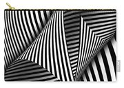 Abstract - Catch The Red Ball Carry-all Pouch by Mike Savad