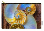 Abstract Chambered Nautilus Carry-all Pouch
