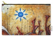 Abstract City Cityscape Contemporary Art Original Painting The Lost City By Madart Carry-all Pouch