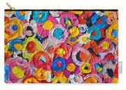 Abstract Colorful Flowers 1 - Paint Joy Series Carry-all Pouch