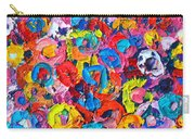 Abstract Colorful Flowers 3 - Paint Joy Series Carry-all Pouch