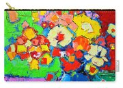 Abstract Colorful Flowers Carry-all Pouch