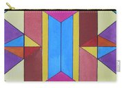 Abstract Colorful Stained Glass Window Design  Carry-all Pouch