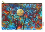Abstract Contemporary Colorful Landscape Painting Lovers Moon By Madart Carry-all Pouch