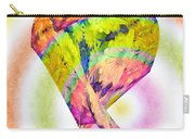 Abstract Crazy Daisies - Flora - Heart - Rainbow Circles - Painterly Carry-all Pouch