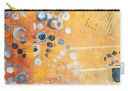Abstract Decorative Art Original Circles Trendy Painting By Madart Studios Carry-all Pouch