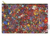 Abstract - Fabric Paint - Sanity Carry-all Pouch by Mike Savad