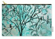 Abstract Floral Birds Landscape Painting Bird Haven II By Megan Duncanson Carry-all Pouch