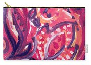 Abstract Floral Design Purple Note Carry-all Pouch