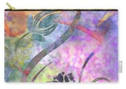 Abstract Floral Designe - Panel 2 Carry-all Pouch