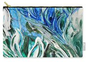 Abstract Floral Sky Reflection Carry-all Pouch