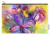 abstract Flower botanical watercolor painting print Carry-all Pouch
