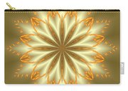 Abstract Flower In Gold And Silver Carry-all Pouch