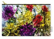 Abstract Flowers Messy Painting Carry-all Pouch