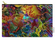 Abstract Fronds In Jewel Tones - Square Carry-all Pouch