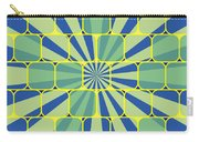 Abstract Geometric Blue Carry-all Pouch