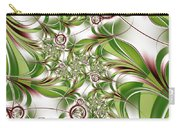 Abstract Green Plant Carry-all Pouch