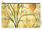 Abstract Harlequin Diamond Pattern Painting Original Landscape Art Moon Tree By Megan Duncanson Carry-all Pouch by Megan Duncanson