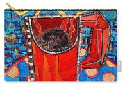 Abstract Hot Coffee In Red Mug Carry-all Pouch