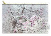 Abstract Ice Covered Shrubs Carry-all Pouch