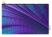 Abstract In Blue And Purple Carry-all Pouch