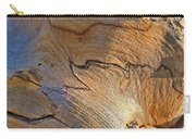 Abstract In Old Wood Carry-all Pouch