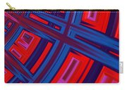 Abstract In Red And Blue Carry-all Pouch