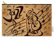 Abstract Jazz Music Coffee Painting Carry-all Pouch