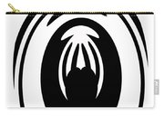 Abstract Jellyfish Black And White Digital Painting Carry-all Pouch