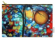 Abstract Landscap Art Original Circle Of Life Painting Sweet Serenity By Madart Carry-all Pouch