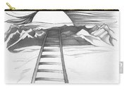 Abstract Landscape Art Black And White Baby Please Don't Go By Romi Carry-all Pouch