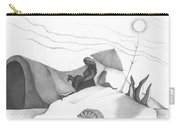 Abstract Landscape Art Black And White Beach Cirque De Mor By Romi Carry-all Pouch
