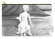 Abstract Landscape Art Black And White Dream The Jumping Off Place By Romi Carry-all Pouch