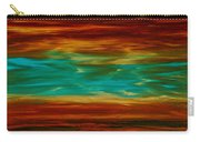 Abstract Landscape Art - Fire Over Copper Lake - By Sharon Cummings Carry-all Pouch