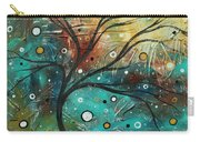 Abstract Landscape Art Original Colorful Heavy Textured Painting Cracked Facade By Madart Carry-all Pouch