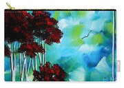 Abstract Landscape Art Original Tree And Moon Painting Blue Moon By Madart Carry-all Pouch