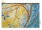Abstract Landscape Bird Painting Original Art Blue Steel 2 By Megan Duncanson Carry-all Pouch